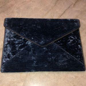 Rebecca Minkoff velvet envelope clutch